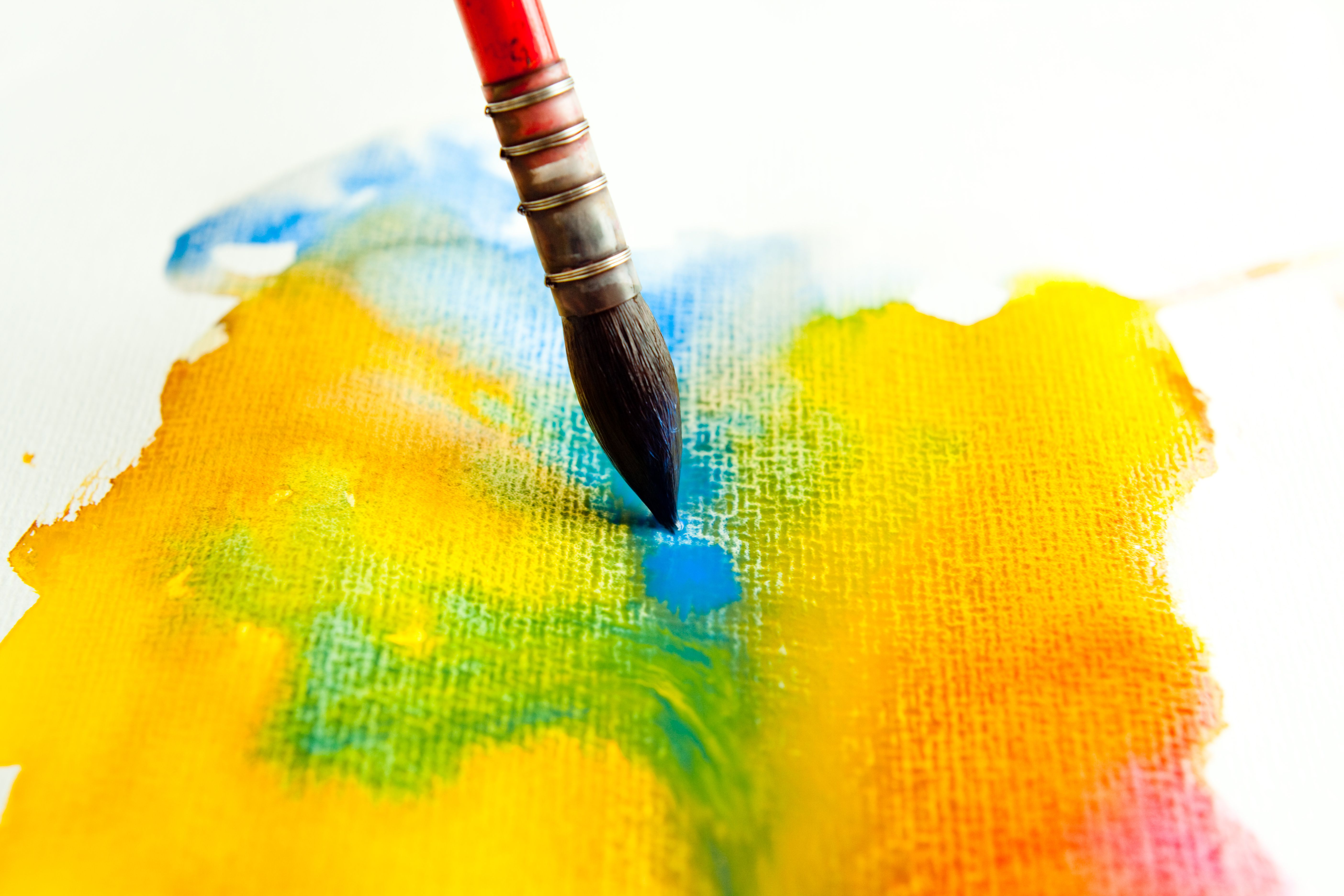Watercolour Mixing With Red Blue And Yellow