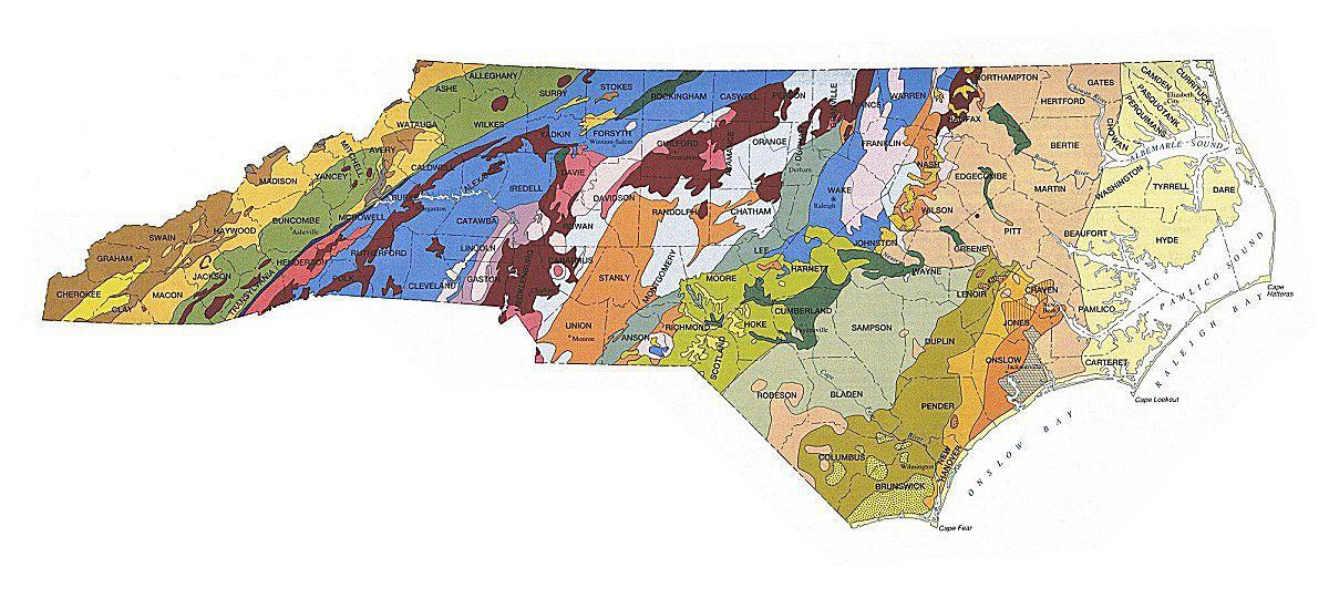North Carolina's rocks