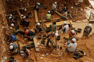 Workers at the Gran Dolina