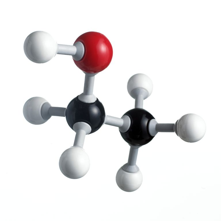 This is the chemical structure of ethanol.