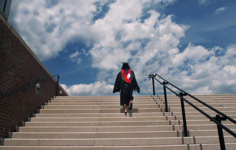 Graduate looking toward the future.