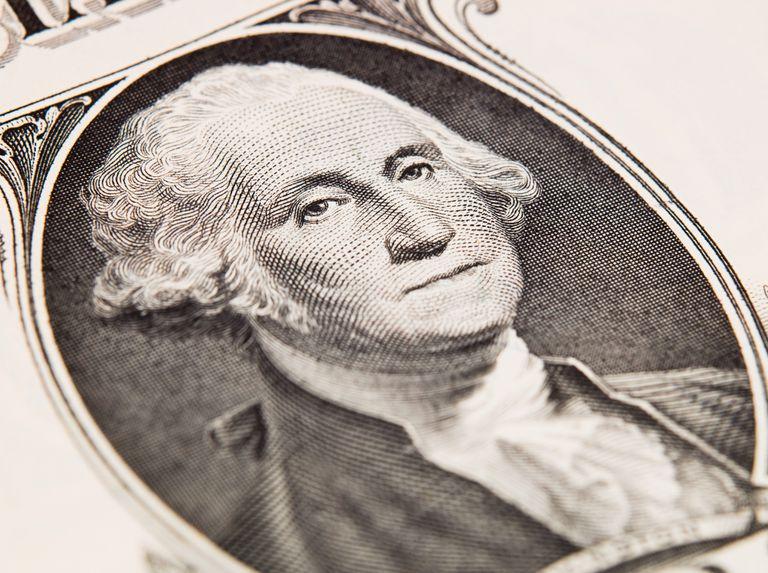 George Washington on dollar bill