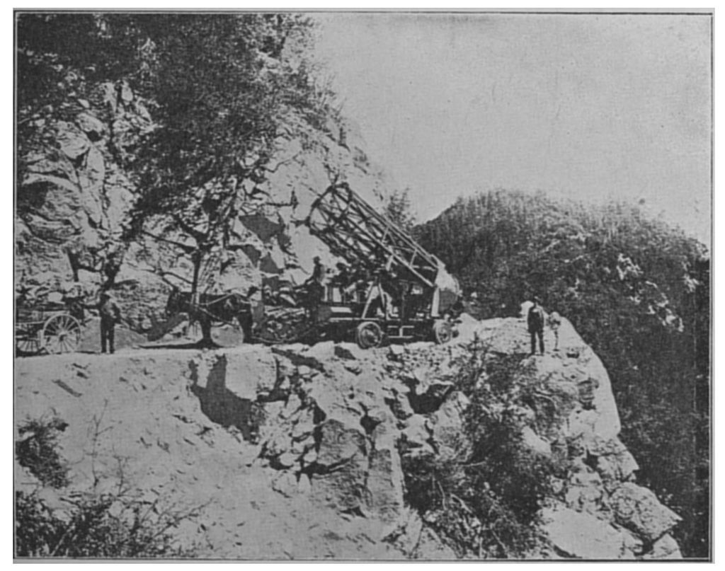Transporting a telescope up to Mount Wilson