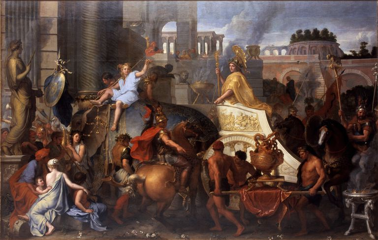 Alexander Entering Babylon (The Triumph of Alexander the Great). Artist: Le Brun, Charles (1619-1690)
