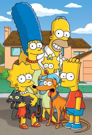 The Simpsons Family with Pets