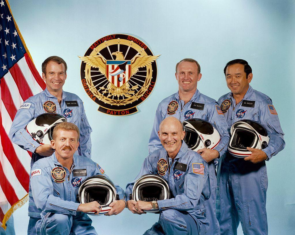 Crew of STS 51C, including Ellison Onizuka.