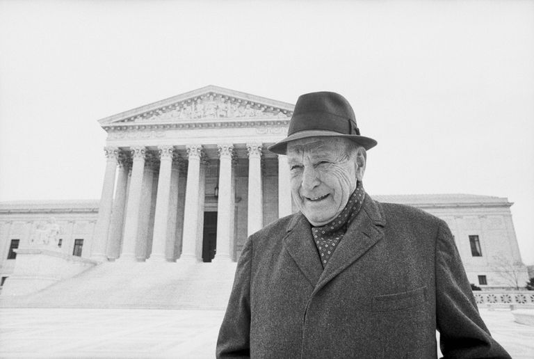 Roger Baldwin, founder of the ACLU, at the Supreme Court