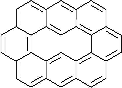 Esta es la estructura química del ovaleno.