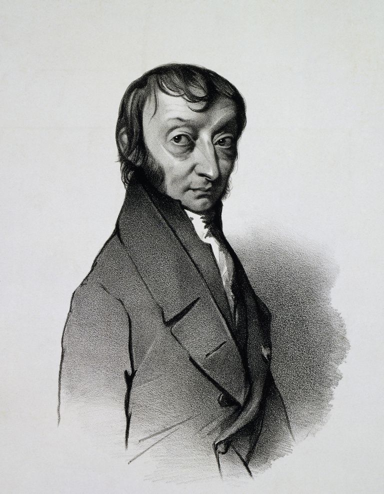Portrait of Amedeo Carlo Avogadro (Turin, 1776-1856), Count of Quaregna and Cerreto, Italian chemist and physicist, Engraving