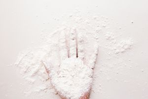 Cornstarch invisible ink is invisible on paper until it binds to iodine