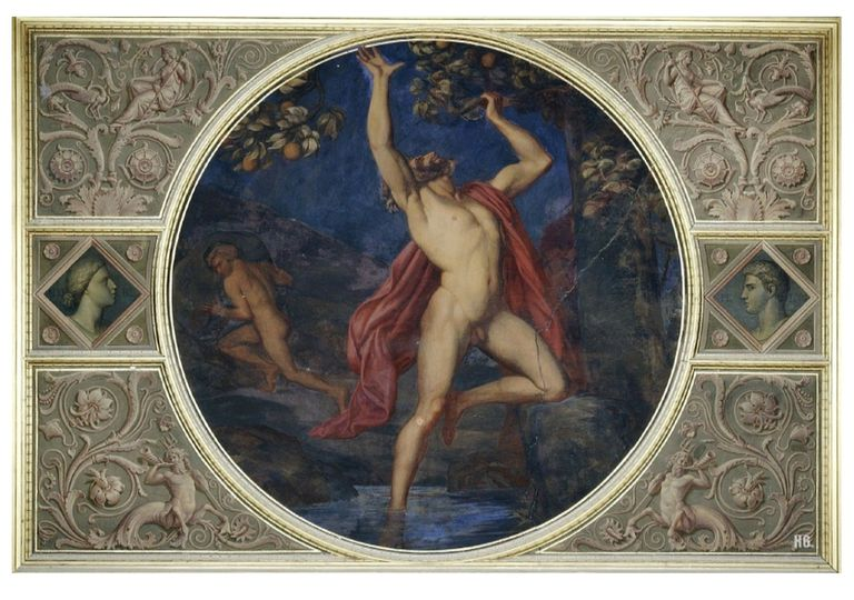 Tantalus and Sisyphus in Hades painting
