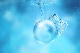 Transparent Sphere Underwater