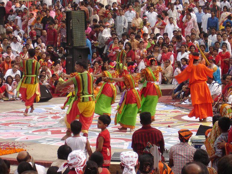 Celebrating Pohela Boishak.