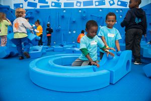 Children playing at a charter school