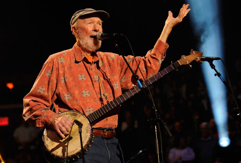 Photograph of Pete Seeger