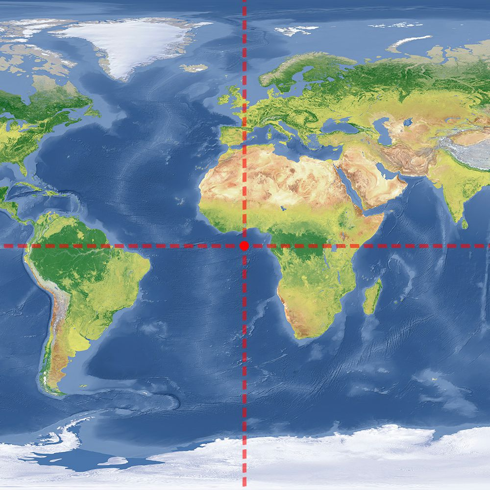 Where Do 0 Degrees Laude and Longitude Intersect? on tectonic plates map, moon map, antarctica map, sun map, continents map, northern hemisphere map, global map, australia map, china map, mars map, asia map, united states map, europe map, usa map, globe map, pluto map, ethiopia map, black sea map, google map, latitude map,