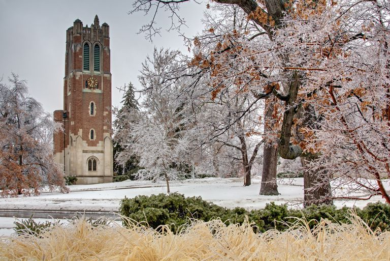 Beaumont Tower Winter Scene