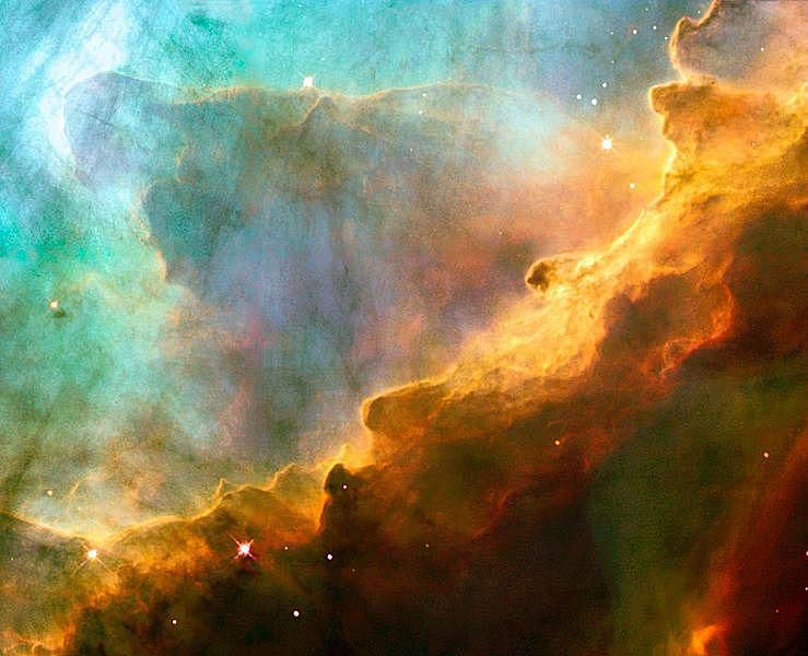 Hubble photograph of M17, also known as the Omega Nebula.