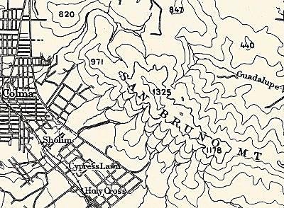 A basic contour map