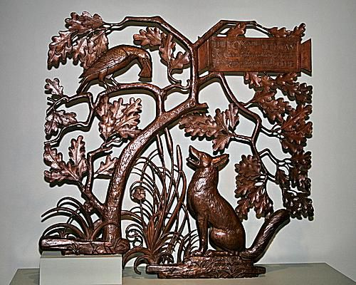 Aesop's Fable of The Fox and the Crow in Bronze
