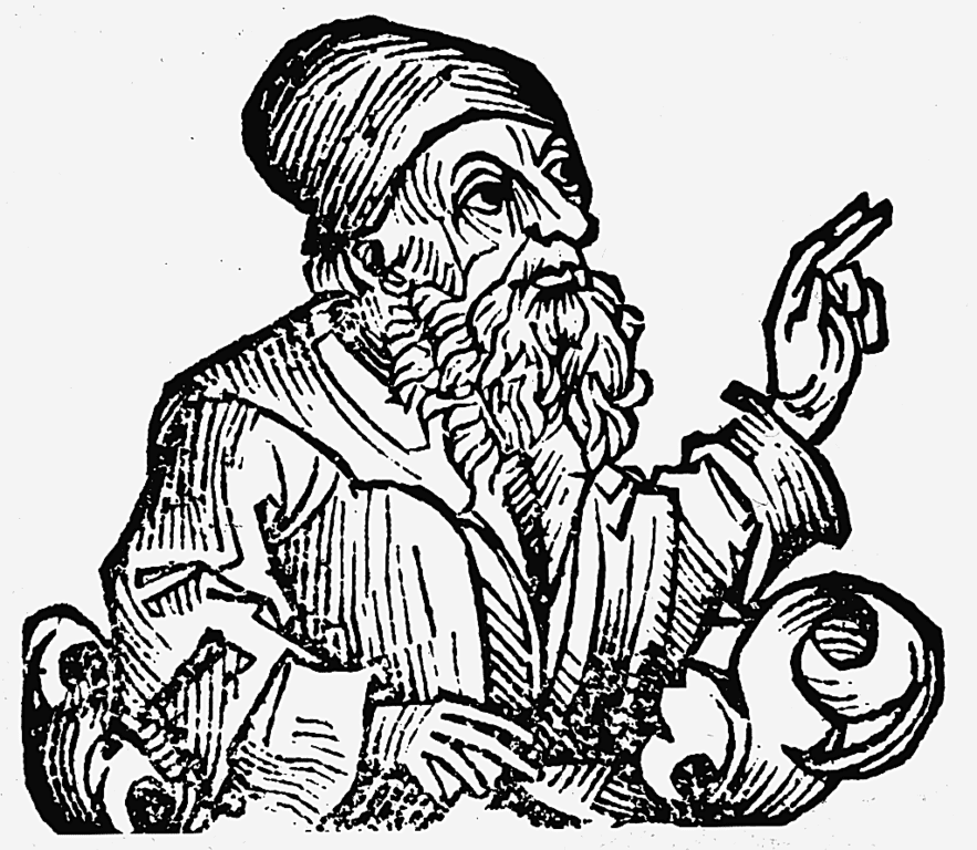 Anaxagoras, depicted in the Nuremberg Chronicle