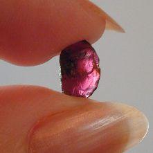 Garnet from the Emerald Hollow Mine in Hiddenite, North Carolina.