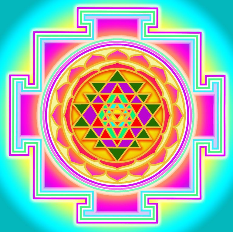 Tipura Sundari yantra or the Shri yantra