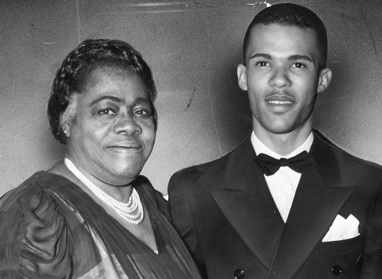 Mary McLeod Bethune with her son Albert