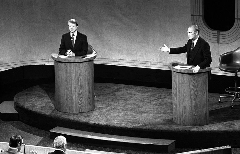 Debate between Jimmy Carter and Gerald Ford.