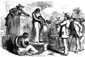 Public slave auction, 1965.