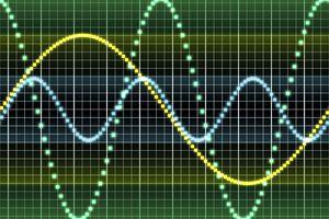 Sound wave computer artwork