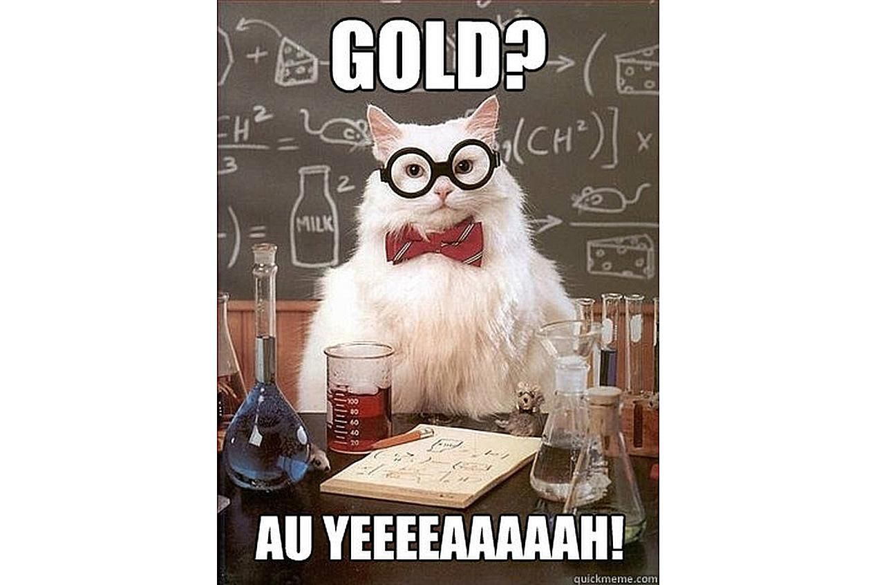 Chemistry Cat likes gold.