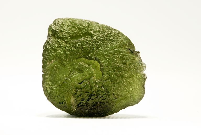 Close-up of Moldavite Precious Gemstone
