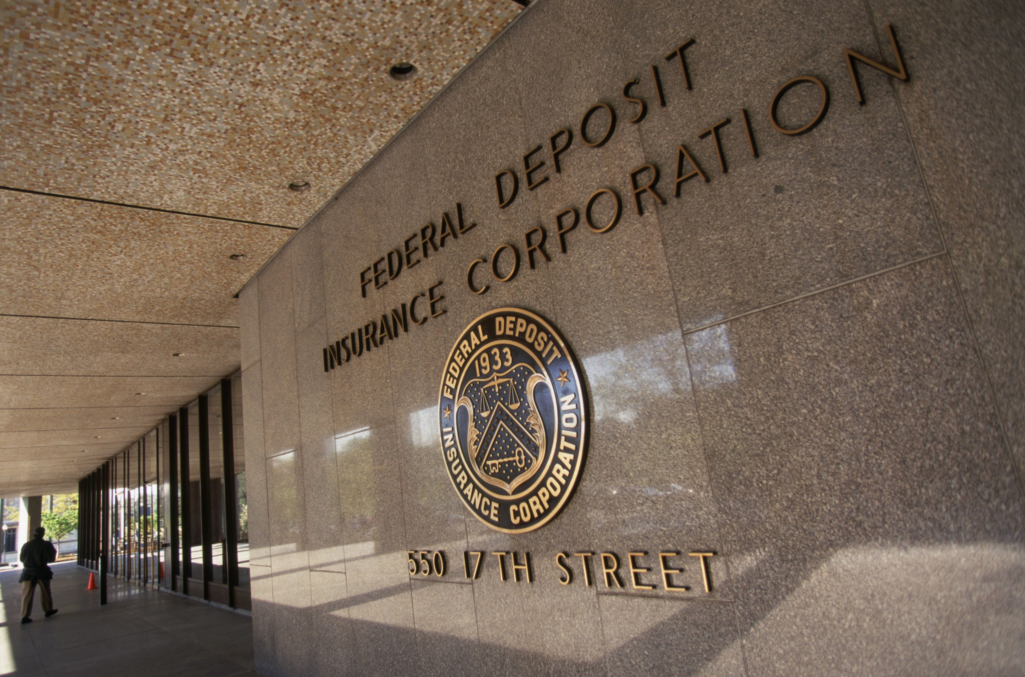 Federal Deposit Insurance Corporation sign on building