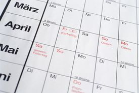 A German calendar