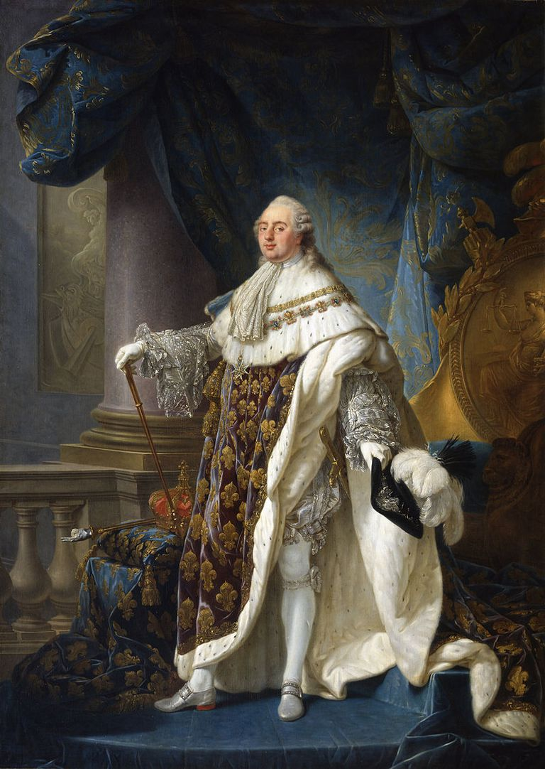 Painting of Louis XVI in court costume.