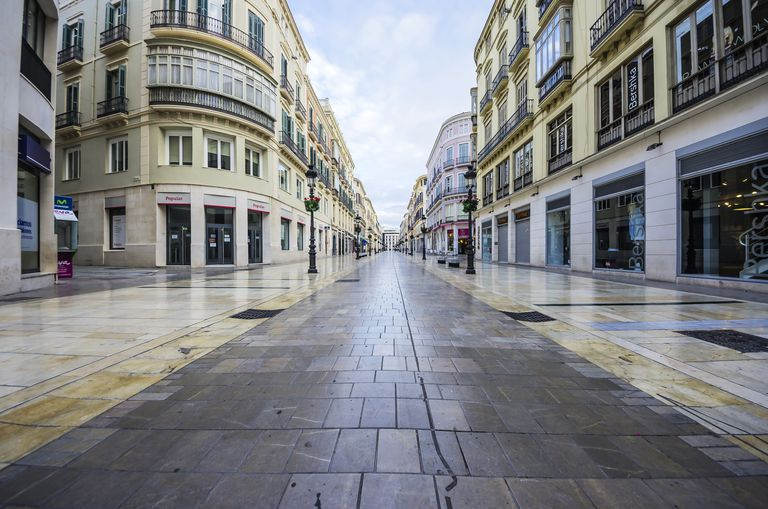 Shopping street in Spain