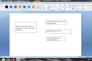 Text boxes in a word document