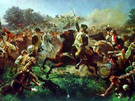 Fighting at the Battle of Monmouth
