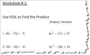 Using FOIL to Solve Algebra Equations