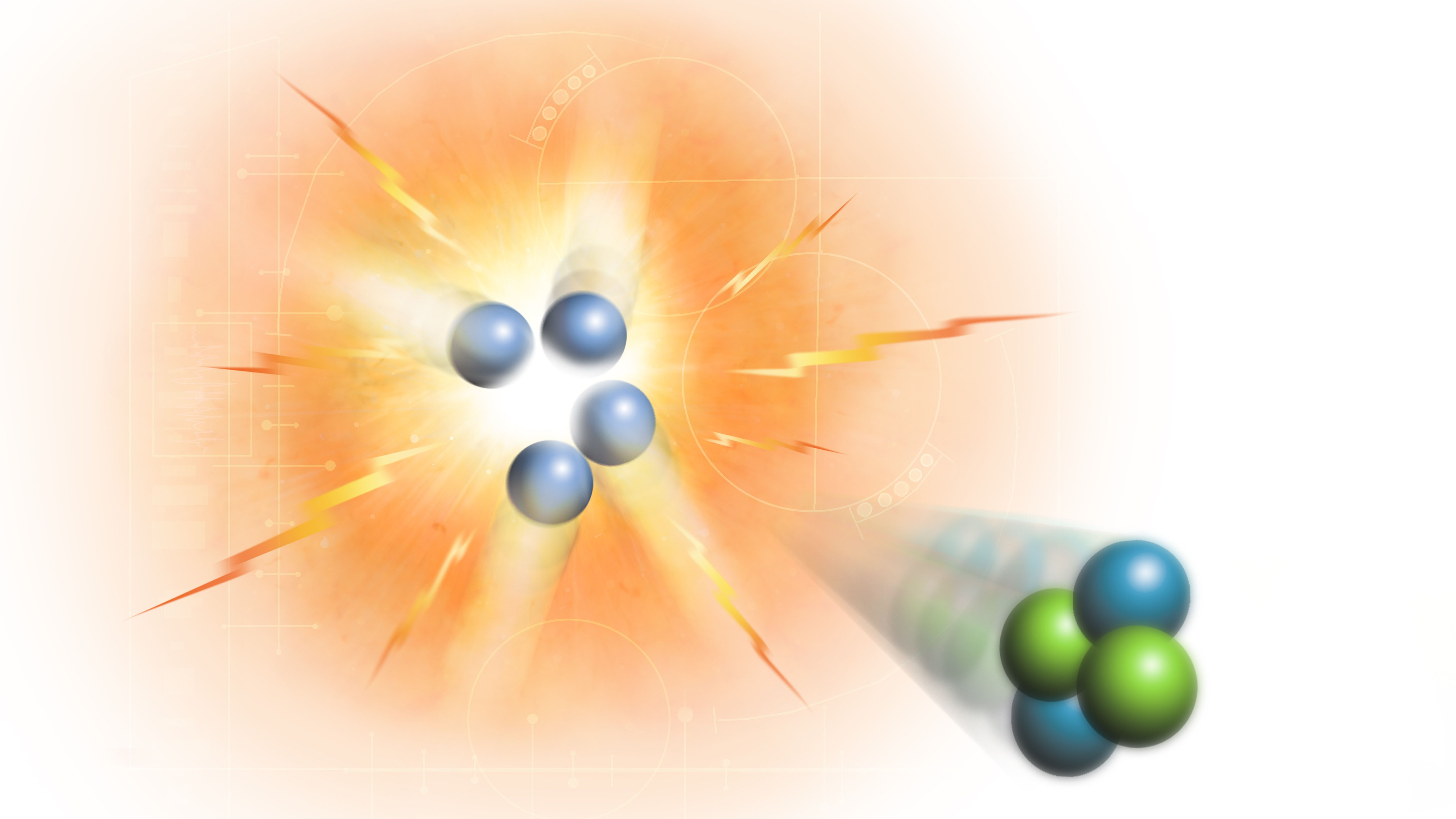 Nuclear fission versus nuclear fusion.