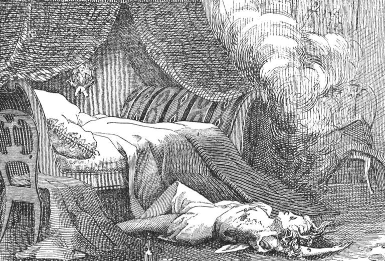 Illustration of the death of Helen Jewett