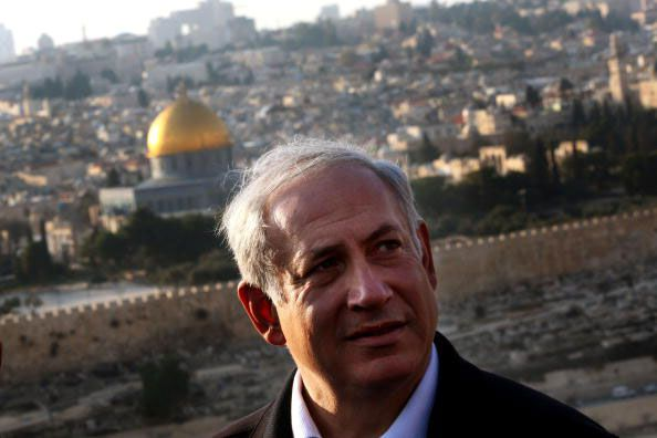 Netanyahu and Dome of the Rock