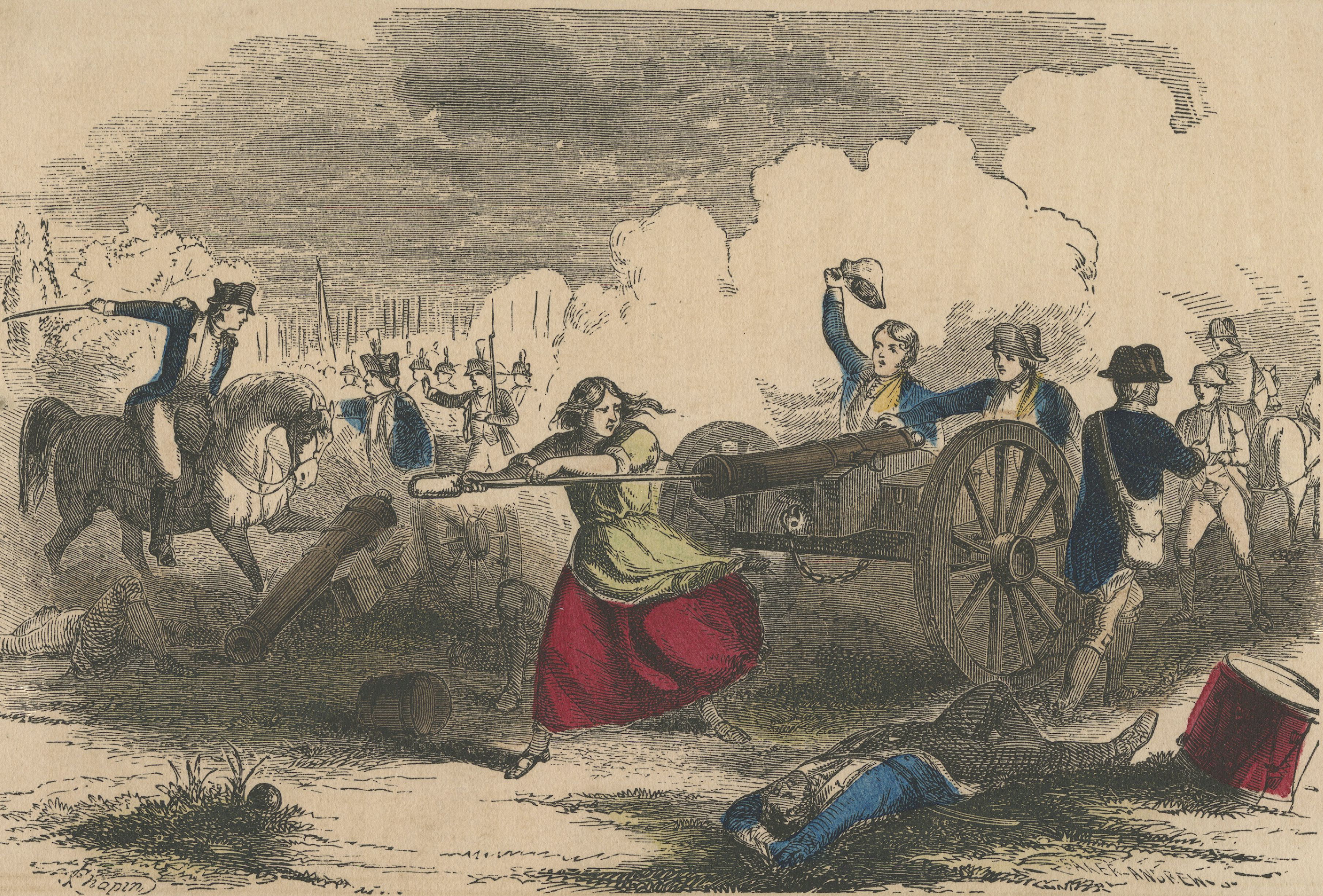 Molly Pitcher at the Battle of Monmouth (artists' conception)