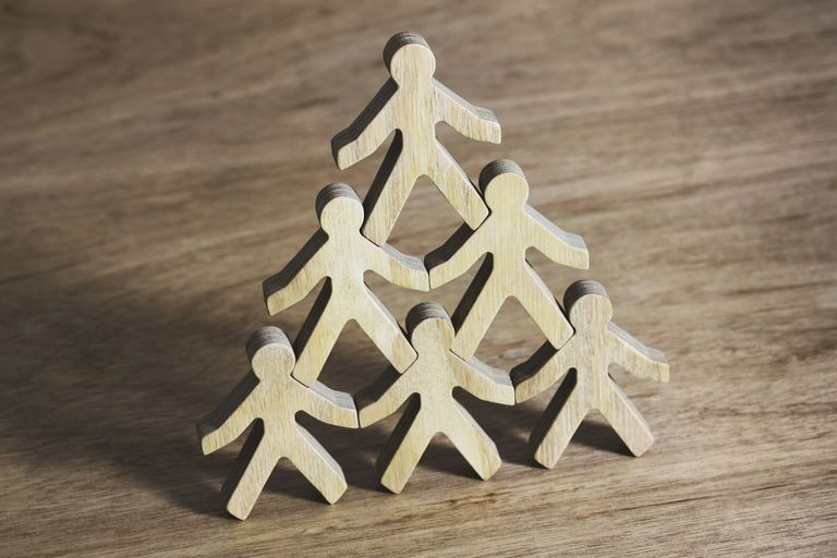 stacked wooden people