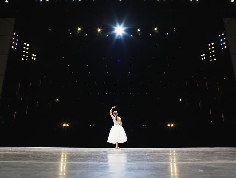 Ballerina on a stage