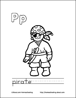 Letter P 3 Print The Pirate Coloring Page And Color Picture Use Your Back Button To Return This Choose Next Printable Sheet