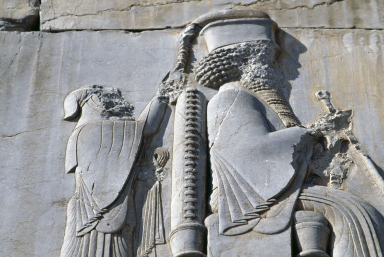Bas-relief of King Darius I, bas-relief in Iran.