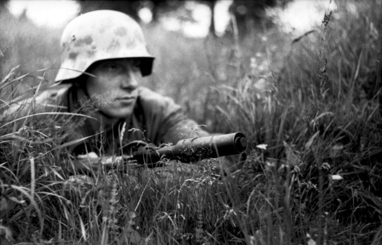 Soldier in the grass
