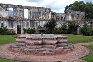 The ruin of a convent in colonial Antigua